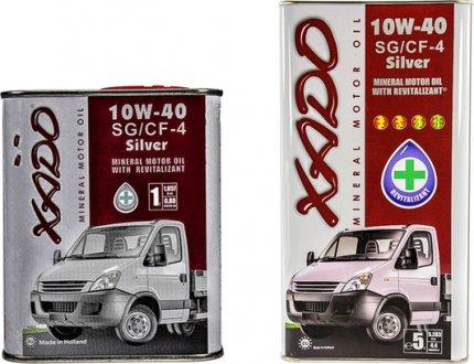 xa20123 XADO Масло моторное Xado Atomic SG/CF-4 Silver 10W-40 (1 л)